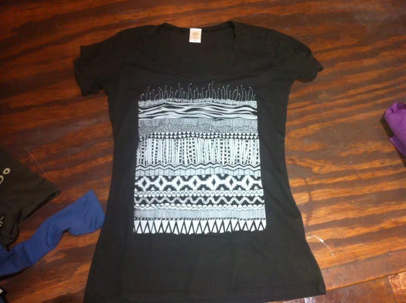 screen printing organic shirt - Behind the Design: Earth Layers