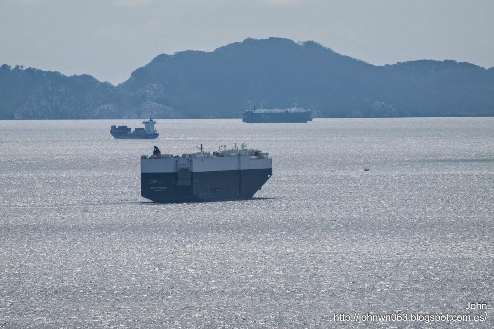 csav rio grey, car carrier, vehicles carrier, vigo, fotos de barcos, imagenes de barcos