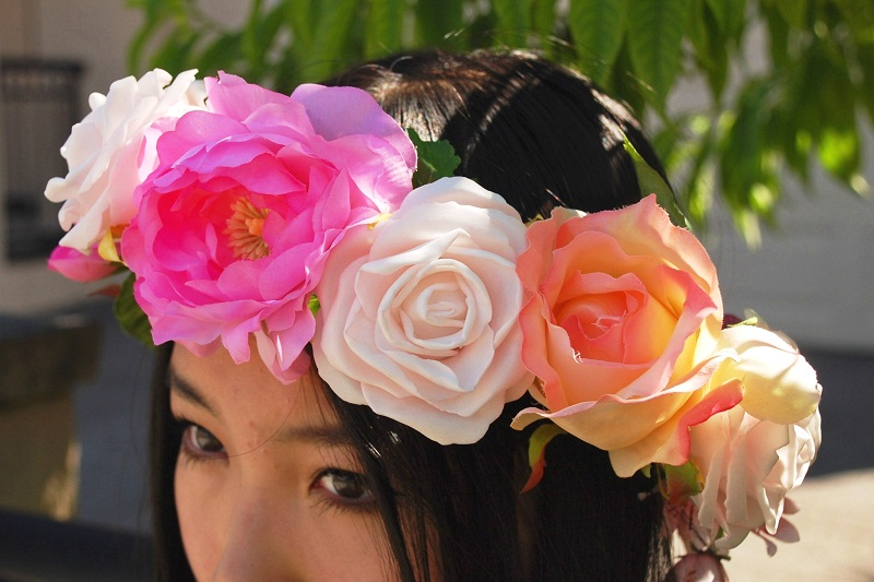 floral garland, lana del rey, etsy, floral crown, spring, style, fashion blogger, street style, personal style, outfit,