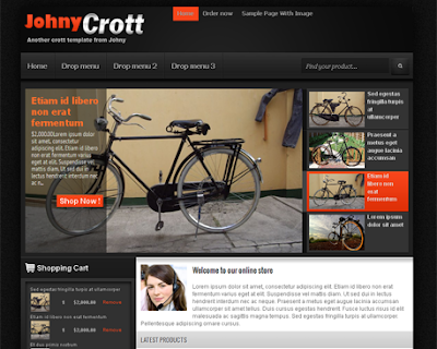 Johny Crott Ecommerce Blogger Template