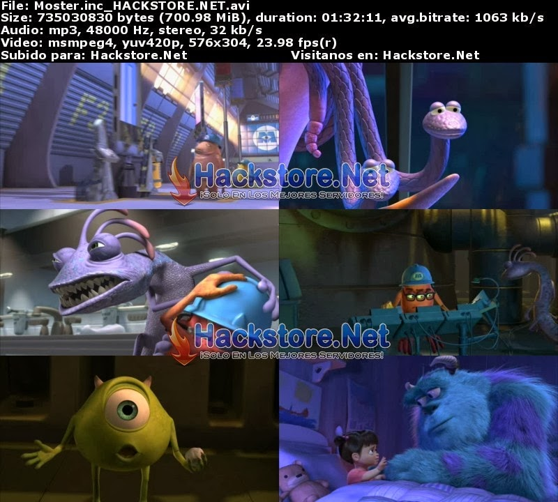 Captura Monsters Inc. (2001) DVDRip Latino