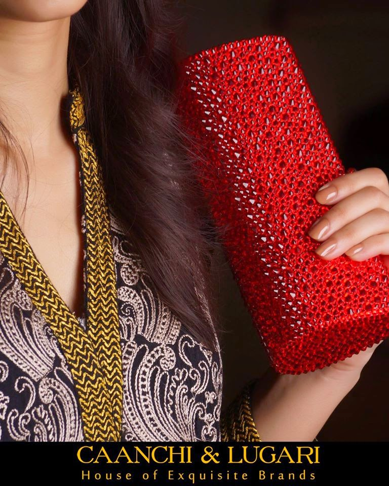 Red clutch or handbag