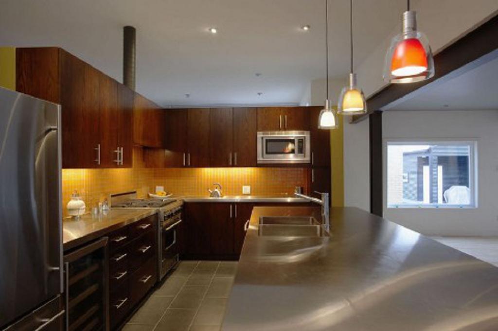 Cocinas y vestidores en mdf l nea cocina integral en - Cocinas color nogal ...