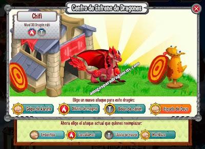 imagen de los taques del dragon rubi
