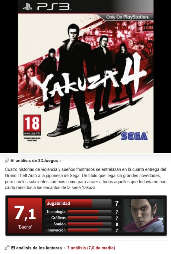 Yakuza 4 -PS3-