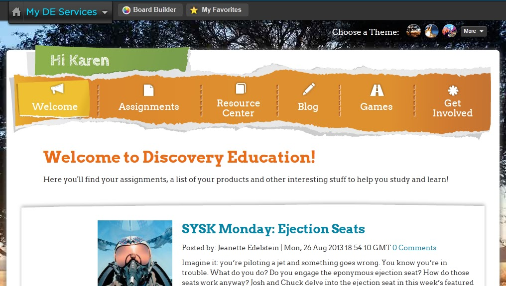 discovery education student assignment