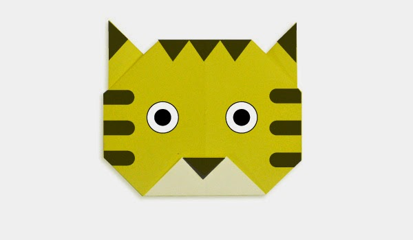 Origami Tutorials - How to make a face of Tiger