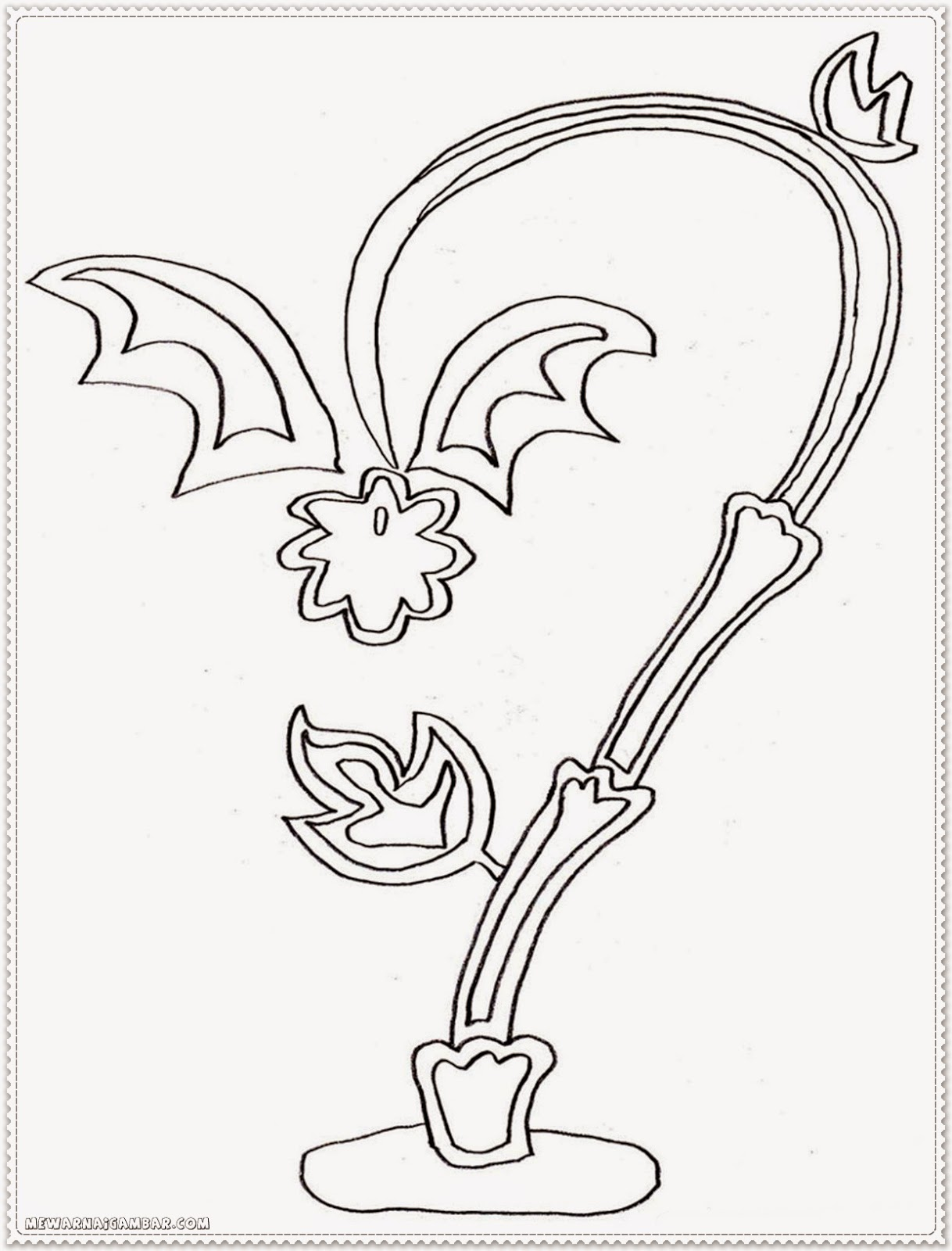 Dragon fruit tree coloring pages for preschool