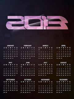 Calendar 2013 negru