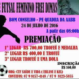 TORNEIO FREI DIMAS DE FUTSAL FEMININO