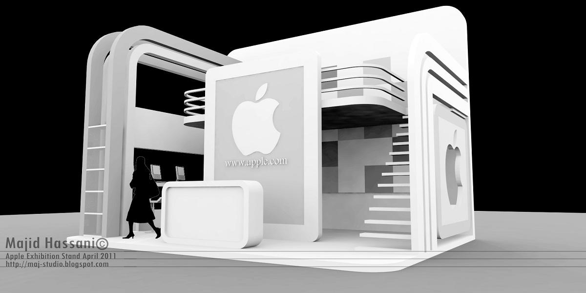 majid hassani u0026 39 s mishmash  apple exhibition stand