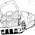 Desenho - Carro Tunado - Colorir e pintar