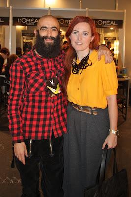 Nagore de Garamendi con el Diseñador Carlos Diez en Cibeles, Madrid fashion week