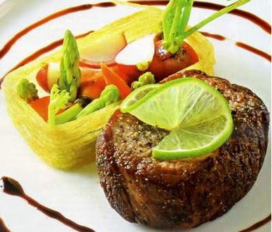 Bò áp chảo sốt giấm Balsamic