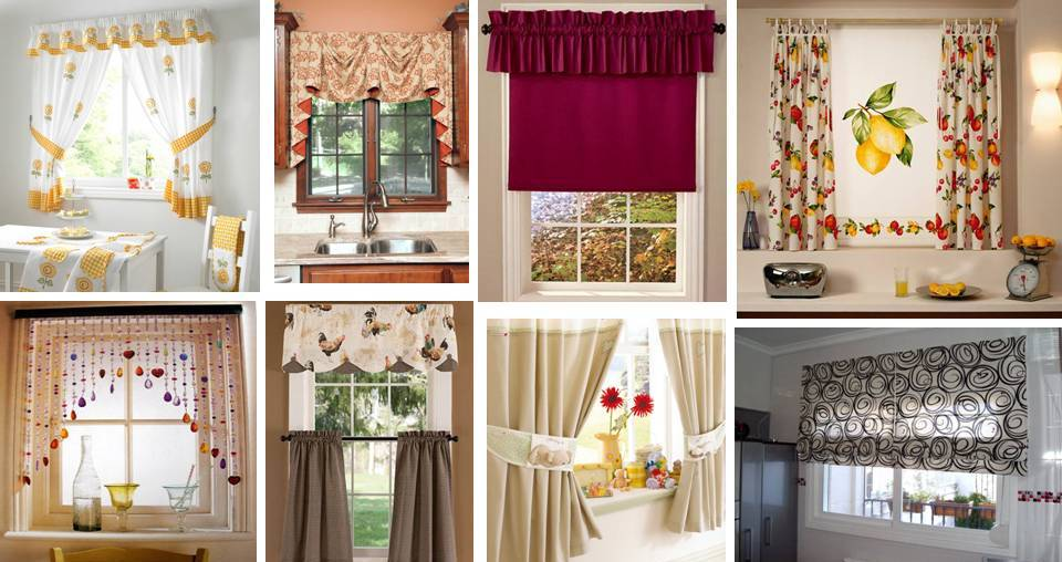 Home decor 20 modern kitchen window curtains ideas for Modern kitchen valance ideas