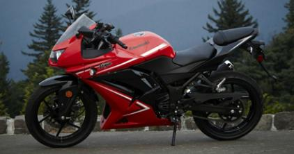 2012 Kawasaki Ninja 250R Red Black colors