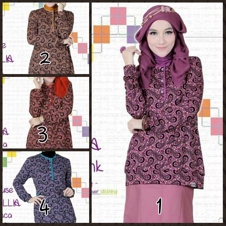 Clover Clothing Blus New Cecillia (Toko Jilbab dan Busana Muslimah Terbaru)