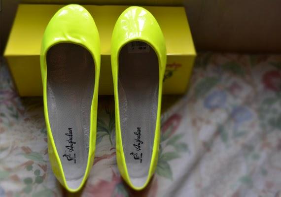 Shoes: Neon Ballet Flats