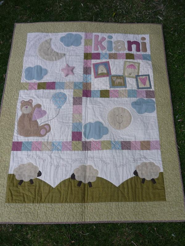 Coser y coser patchwork colcha para kiani - Patrones para colchas de patchwork ...