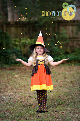 Candy Corn Witch - Photo by Click Photo Designs by Sarah Brewer