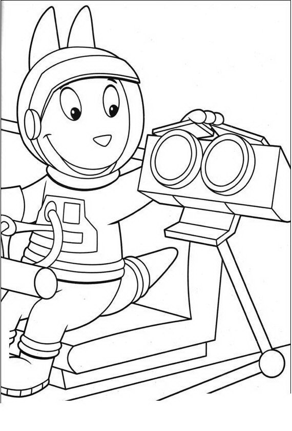Austin Backyardigans para colorear - Dibujo Views