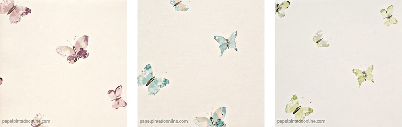 Papel pintado papel pintado butterfly for Papeles vinilicos para empapelar