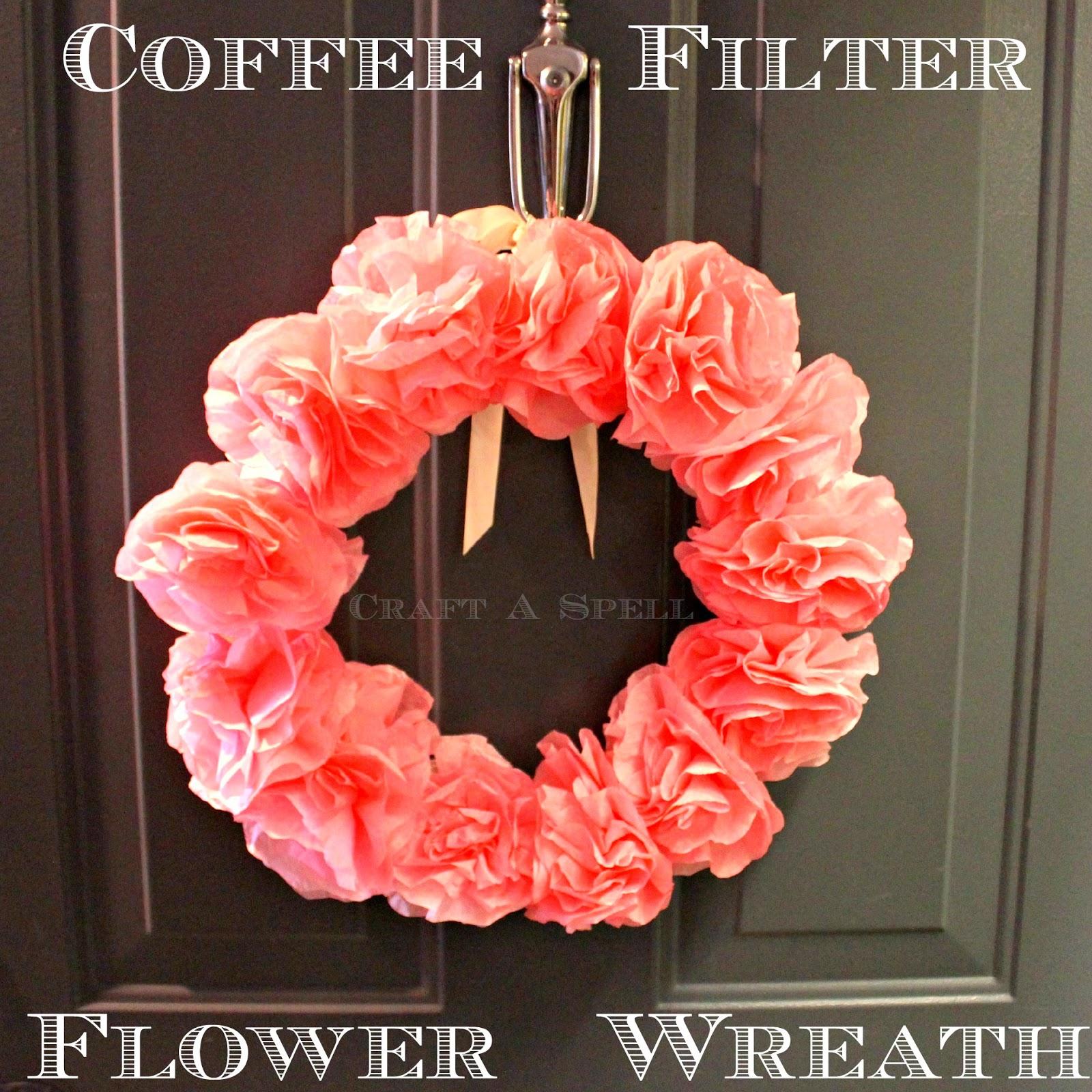 Craft A SpellCoffee Filter Flower Wreath