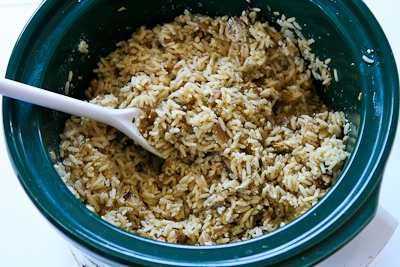 ... Rice With Dried Mushrooms, Herbs, And Parmesan Recipe — Dishmaps