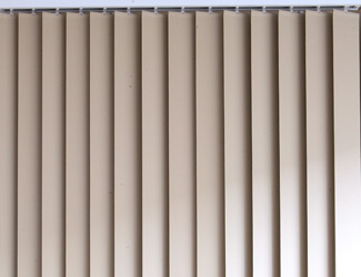 Vertical Blinds Consist Of A Number Of Thin Horizontal Adjustable Slats  That Overlap When Closed. Usually Are Used To Cover Glass Walls In The  Office Or At ...