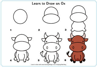 Easy animals to draw for kids step by step - photo#18