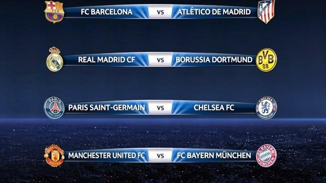 Sorteo de los Cuartos de Final de la UEFA Champions League 2013-14 | Ximinia