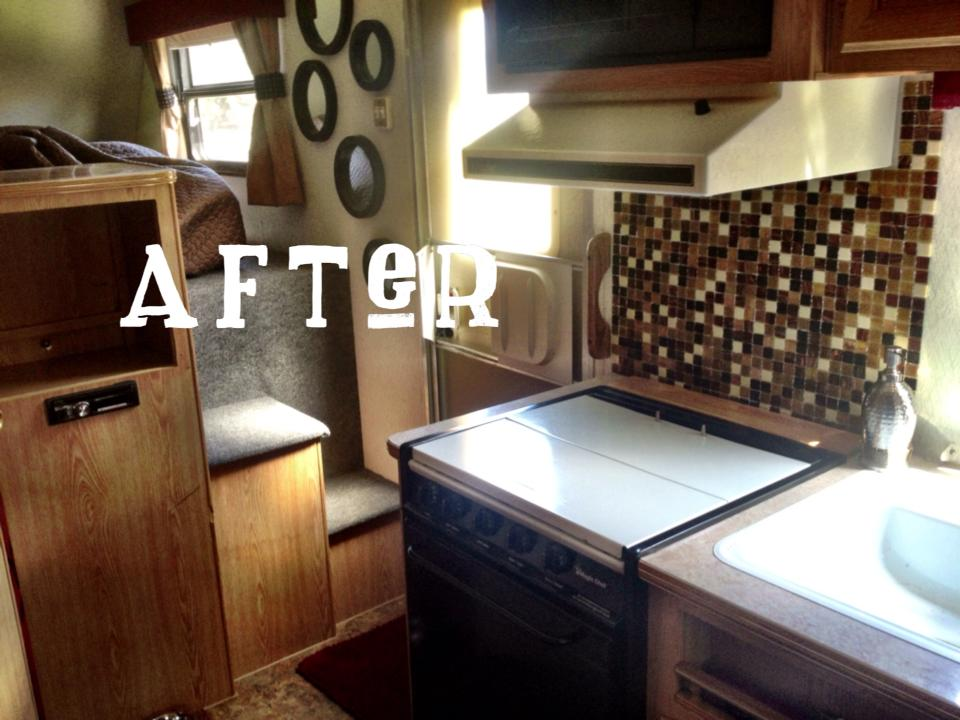 Designs By Jeannine Th Wheel RV Remodel - Travel trailer bathroom remodel
