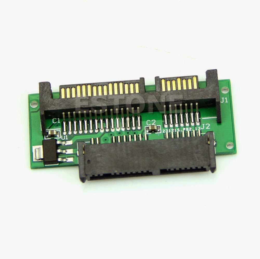 MINI NEW SATA MSATA TO 7+15 2.5 inch SATA Adapter Converter Card