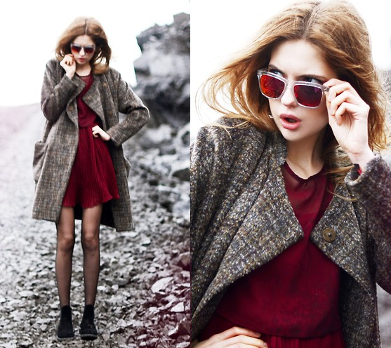 Burgundy Dress, Street Style, Fashion Trends, Fall Trends 2013