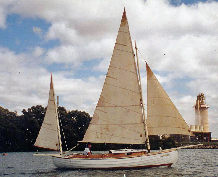 Ross lillistone wooden boats following the canoe yawl track for William garden sailboat designs