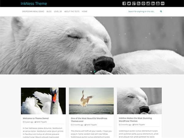 Inkness Free WordPress theme 2014