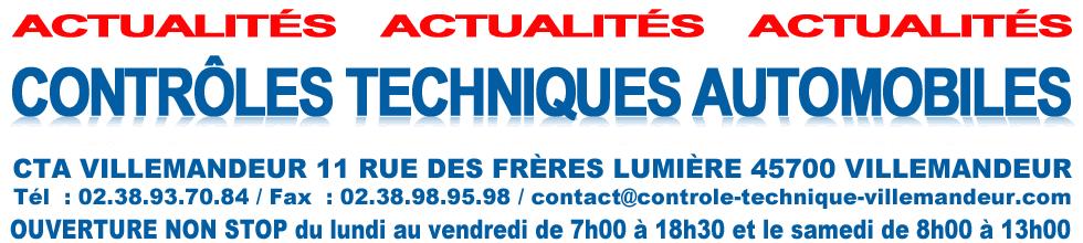 Contrôle technique Villemandeur Loiret 45 (CT ok )