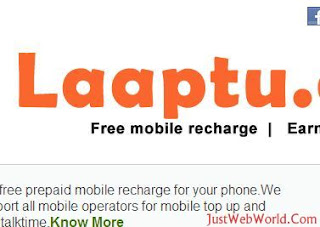 Free Mobile Recharge With Laaptu