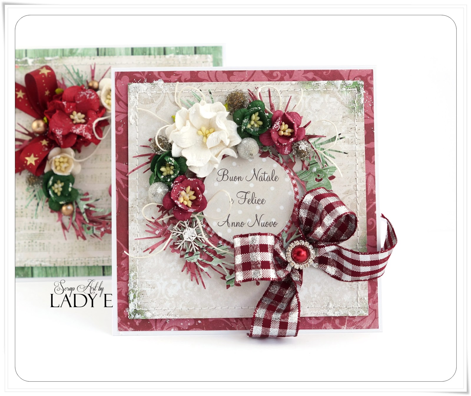 Wild Orchid Crafts 2 Christmas Cards With Wreaths