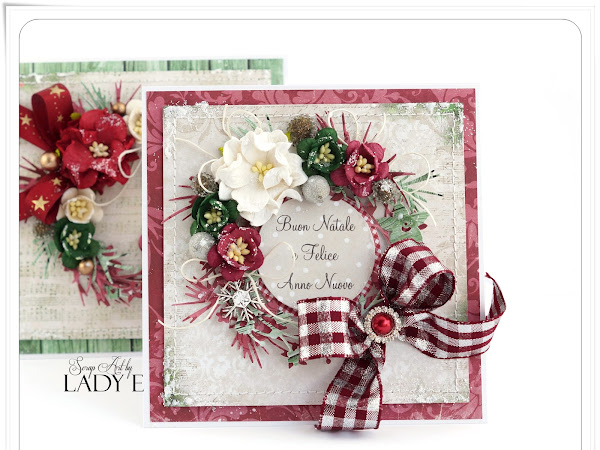 2 Christmas Cards with Wreaths - Wild Orchid Crafts DT