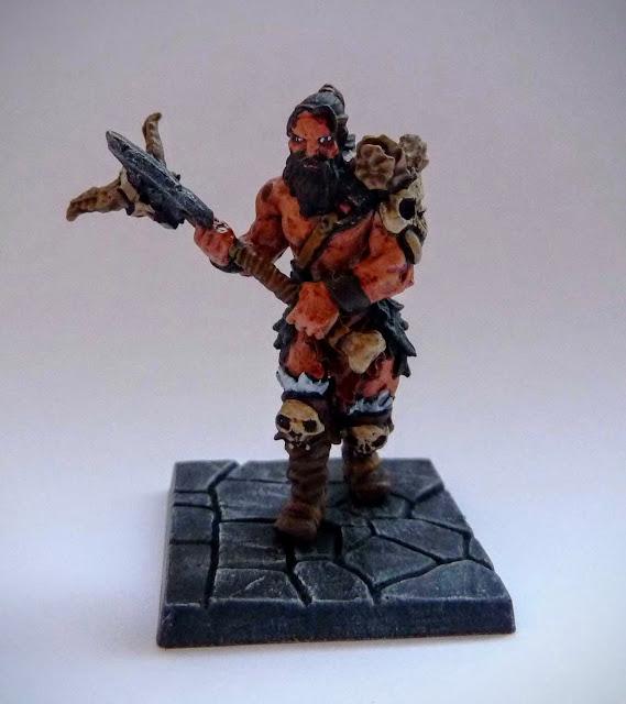 Dungeon Saga: Dwarf Kings Quest painted hero: Orlaf