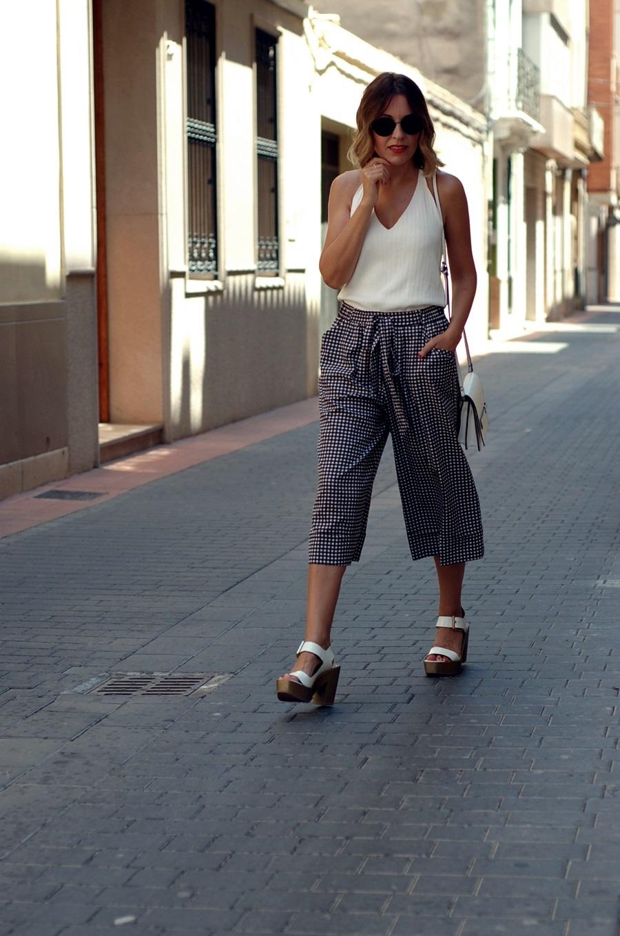 littledreamsbyr streetstyle vichy culotte pants