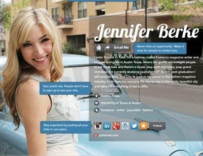 O site About.Me é sua vitrine virtual ou cartão de visitas online
