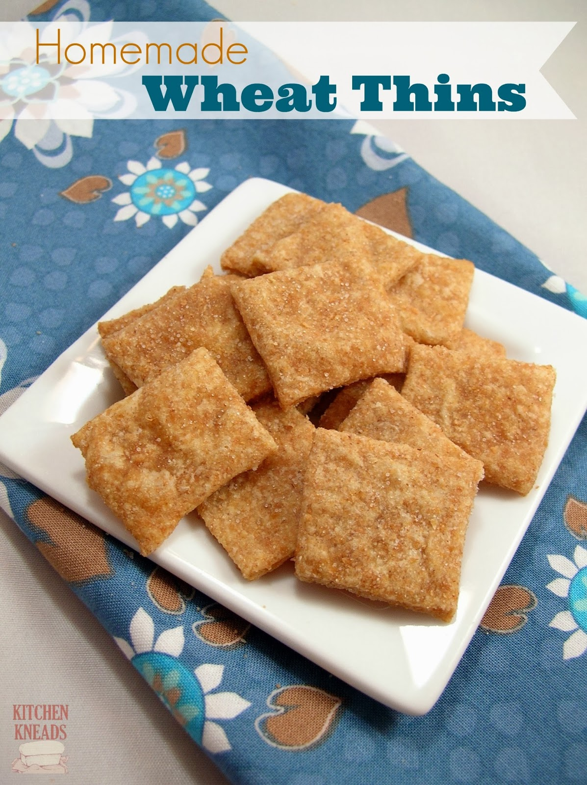 Homemade Wheat Thins Kitchen Kneads