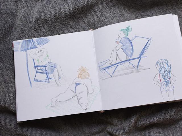 Mar Villar - Cuaderno: Bañistas y gente de la playa