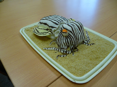 striped pajama squid cake