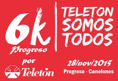6k por la Teletón en Progreso (sáb 28/nov/2015)