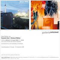 Richard Müller: Einladung Galerie Hufschmid Zürich