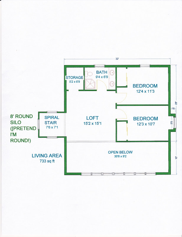 This second floor option is also only over part of the first floor. It  title=