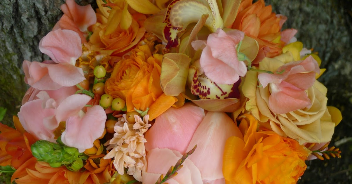 Flora Fauna Blue Orange Gold And Peach Wedding Gisland